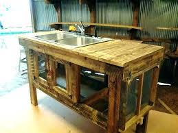 outdoor sink garden work station faucet for pallet mobile g