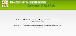 tndte gov in oct diploma time table out dote website link