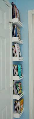 decorating a small office. small corner bookshelves work great for behind door in playroom decorating a office w