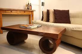 wooden sofa center table design