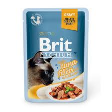 Купить со скидкой <b>Паучи Brit Premium</b> Gravy Tuna fillets для кошек