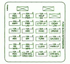 98 silverado fuse box wiring diagram