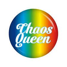 Kiwikatze Sprüche Chaos Queen 37mm Button Pin Ansteckbutton Als
