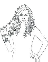 Coloring Pages Hair Hair Coloring Page Swift Hold Her Pages