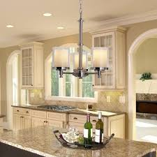 hampton bay burbank 3 light brushed nickel chandelier with glass shades 564