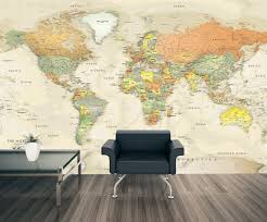 detailed antique oceans world map mural touch to zoom