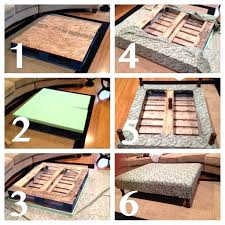 how to make coffee table out of pallets pallet ottoman coffee table w a few changes coffee