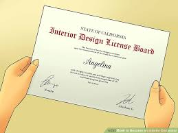 certificate of interior design. Interesting Certificate Image Titled Become An Interior Decorator Step 15 Intended Certificate Of Design