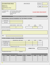 Consultant Invoice Template Free Service Contractor Independent