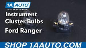 2003 Ford Ranger Instrument Cluster Light Bulbs How To Replace Instrument Cluster Bulbs 93 03 Ford Ranger