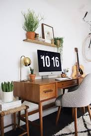 mid century modern office. New Darlings - Home Office Refresh --- Try To Recreate In Tiny Home Where  Built Table Will Go (see Domino) Mid Century Modern Office M