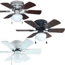 30 inch flush mount hugger ceiling fan w light kit satin nickel bronze or white