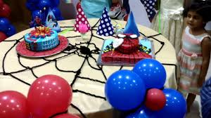 Spiderman Cake Table Decor Youtube