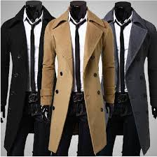 2018 new 2016 brand winter mens long pea coat men s wool coat turn down collar double ted men trench coat from facai2016 41 18 dhgate com