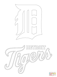 Small Picture Detroit Tigers Logo coloring page Free Printable Coloring Pages