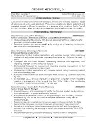 Underwriter Resume Template Marvelous Commercial Underwriter Resume Sample Also Medical 4