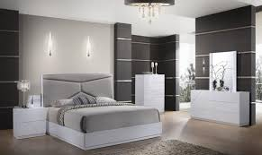 global furniture usa pandora modern white gloss finish queen bedroom set 3pcs