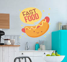 <b>Hot Dogs</b> Food <b>Wall Sticker</b> - TenStickers