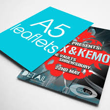 paper flyer a5 flyers leaflet art paper 128gsm 1 side printing