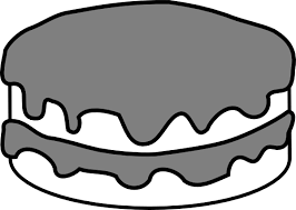 slice of cake clipart black and white. Brilliant And Chocolate Cake Clipart Black And White And Slice Of Clipart Black White O
