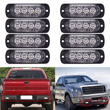 Police Car Light Bar For Sale Us 49 85 35 Off 8pcs Lot Whosesale 12v 24v 4 Led Car Strobe Light Police Strobe Flash Lightbar Dash Emergency Vehicle Flashing Light Amber In Car