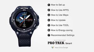 Android Wear Watch Comparison Chart Pro Trek Smart Wsd F20 Smart Outdoor Watch Casio