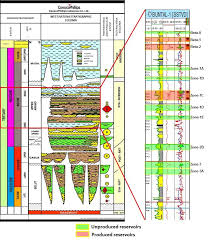 Well Chart West Natuna Stratigraphic Chart Buntal Typical Well Log