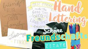 Handlettering Für Freunde I Sprüche Zitate Freundschaft