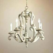 white chandeliers wrought iron