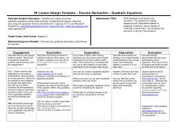 5e lesson plan quadratic equation review by wylie east high school issuu