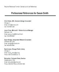 Example Of References On Resume Resume Examples With References