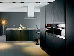 Kitchen Wall Finish Picture Of Kitchen Black Cabinet With Stainless Chimney Finish