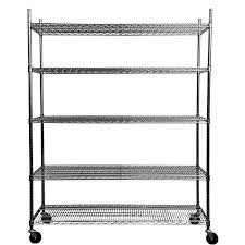 chrome plated carbon steel mobile wire shelving storage rack