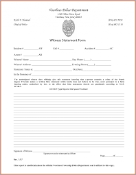Statement Witness Form Sample Resume Template Pictures Hd