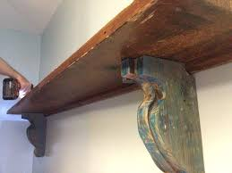 easy diy shelf brackets wood project using old reclaimed wood easy shelf brackets wood shelf corbels