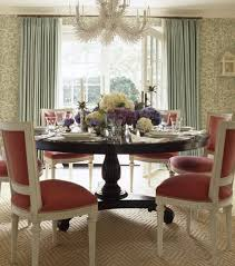 dining room carpets. Ashley Whittaker Dining Room--coral And Aqua, Round Table, Carved Chairs, Chandelier Room Carpets E