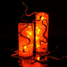 halloween lighting. serving up delicious snake snacks for halloween submersible lights ice and rubber snakes lighting