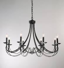 amazing dining room with black wrought iron chandelier in designs 5
