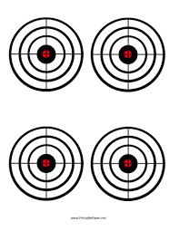 Printable Black Circles Target