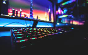 black RGB gaming keyboard #colorful ...