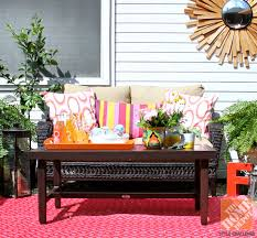 outdoor furniture decor. Patio Decor Ideas: Wicker Furniture, Pink And Orange Pillows, Succulents, Outdoor Furniture I