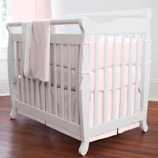 solid pink mini crib bedding