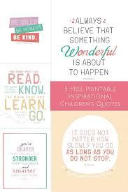 10 Free Printable Inspirational Prints For Kids