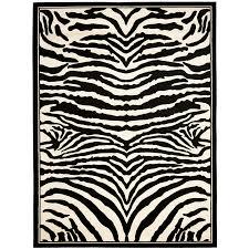 safavieh lyndhurst zebra white black indoor animals area rug common 8 x 11