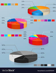 Pie Charts Set Of Of Multi Colored Pie Chart