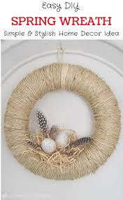 diy spring wreath idea learn how to make this simple and stylish bird s nest wreath
