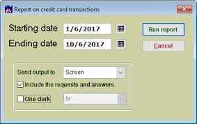 How To Run A Credit Card Log Report In Wintix 5 6 Center Stage