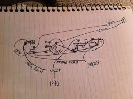 p90 neck 3 way switch reverse plate wiring diagram telecaster hard to but on the bridge switch connection there is a 470k resistor that runs to ground on the tone pot again this is a reverse switch plate