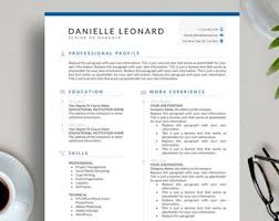 Executive Resume Template Mens Resume Etsy