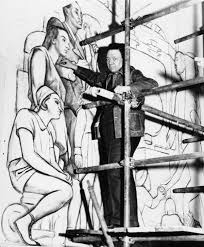 diego rivera murals rockefeller. Unique Murals Diego Rivera Seen Here In 1933 Works On A Panel Of His Mural For Rivera Murals Rockefeller P